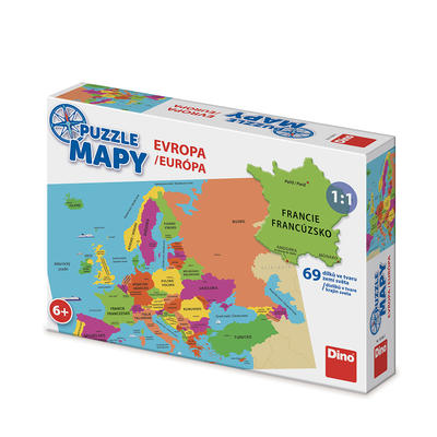 PUZZLE MAPY EVROPA - 1